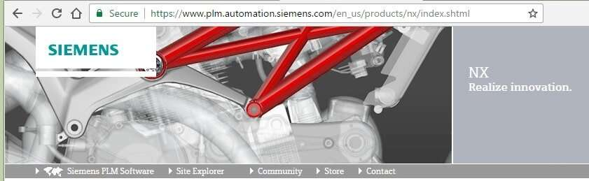 Siemens NX Lawsuit image from Siemens's website