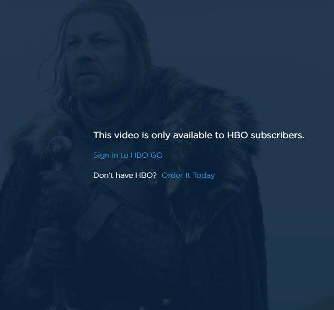 HBO Content was only available to Cable TV Subscribers